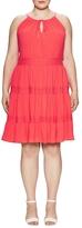 London Times Tiered Midi Dress
