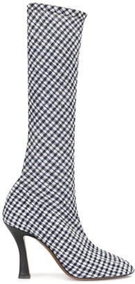 Neous Knee High Checked Boots