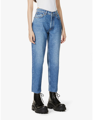 Boyish The Tommy straight-leg high-rise stretch-denim jeans