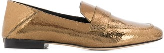 MICHAEL Michael Kors Emory cracked-effect loafers