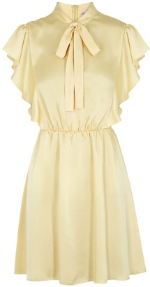 RED Valentino Pale yellow satin mini dress
