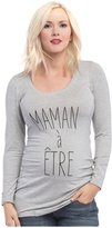 Lilac Maternity Mom to Be Frenchie Tee - Grey - Small