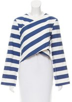 SOLACE London Striped Cropped Top w/ Tags