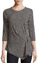 Vince Camuto Roundneck Houndstooth Top