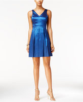 Jessica Simpson Metallic Bow Fit & Flare Dress