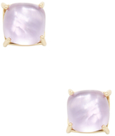 Roberto Coin Shanghai 18K Yellow Gold, Amethyst & Mother of Pearl Circle Stud Earrings