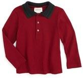 Gucci Toddler Boy's Stripe Collar Long Sleeve Polo