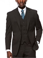 Izod Black Striped Suit Jacket
