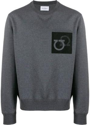 Salvatore Ferragamo Gancini patch sweatshirt