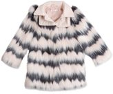 Billieblush Striped Faux Fur Coat