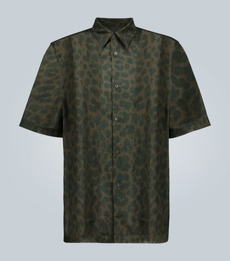 Dries Van Noten Leopard printed short-sleeved shirt