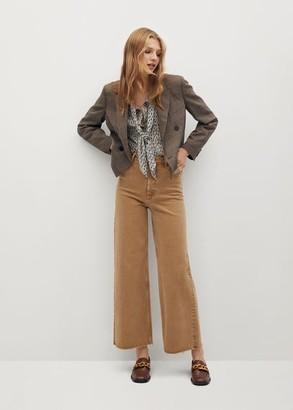 MANGO Lace flowy blouse beige - 2 - Women
