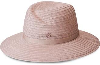 Maison Michel Virginie woven fedora hat