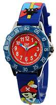 Baby Watch 606016 – Capri School – Boys 'Watch – Quartz – red dial – Blue Plastic Bracelet