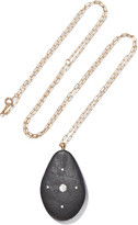 Cvc Stones Bermuda Triangle 18-karat Gold, Stone And Diamond Necklace - one size