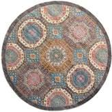 F.J. Kashanian Mamluk Hand-Knotted Wool Round Rug