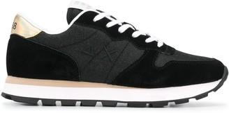 Sun 68 Metallic Heel Counter Sneakers