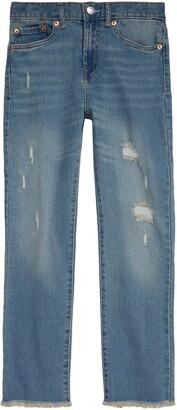 Levi's High Waist Straight Leg Jeans