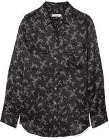 Equipment Slim Signature Printed Silk-satin Shirt - Black