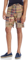 Tailor Vintage Plaid Pathwork Shorts