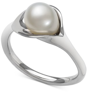Macy's Cultured Freshwater Pearl (7mm) Abstract Ring in Sterling Silver
