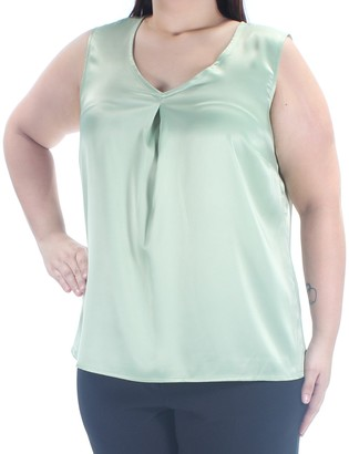 Kasper Women's Plus Size Solid V Neck Front Cami (1)