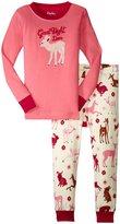 Hatley Good Night Deer Pajama Set (Toddler/Kid) - Pink - 2
