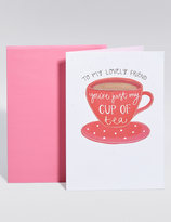 Marks and Spencer Cup of Tea Birthday Card