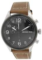 Michael Kors MK7068 Hangar Black Dial Leather Strap Chronograph Watch