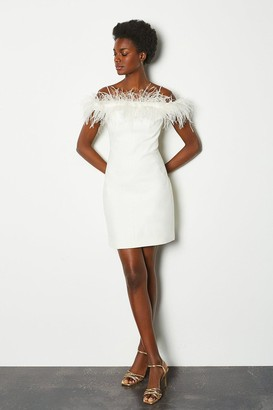Karen Millen Feather Bardot Dress