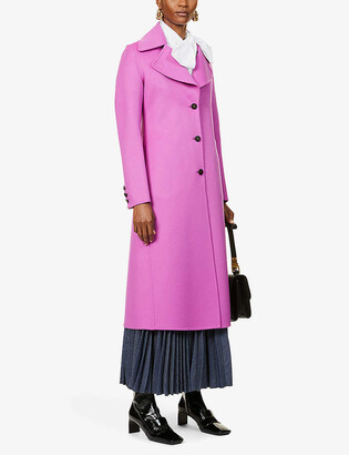 Valentino Single-breasted wool and cashmere-blend coat