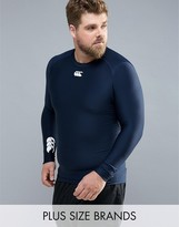 Canterbury of New Zealand Plus Thermoreg Baselayer Long Sleeve Top In Navy E546845-769