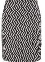 Dorothy Perkins Womens Monochrome Chevron Mini Skirt- Black