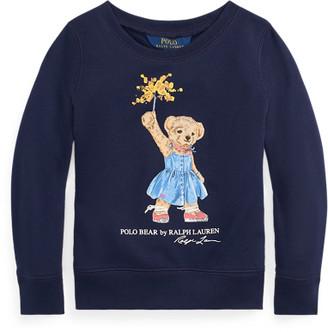 Ralph Lauren Sparkler Bear Terry Sweatshirt