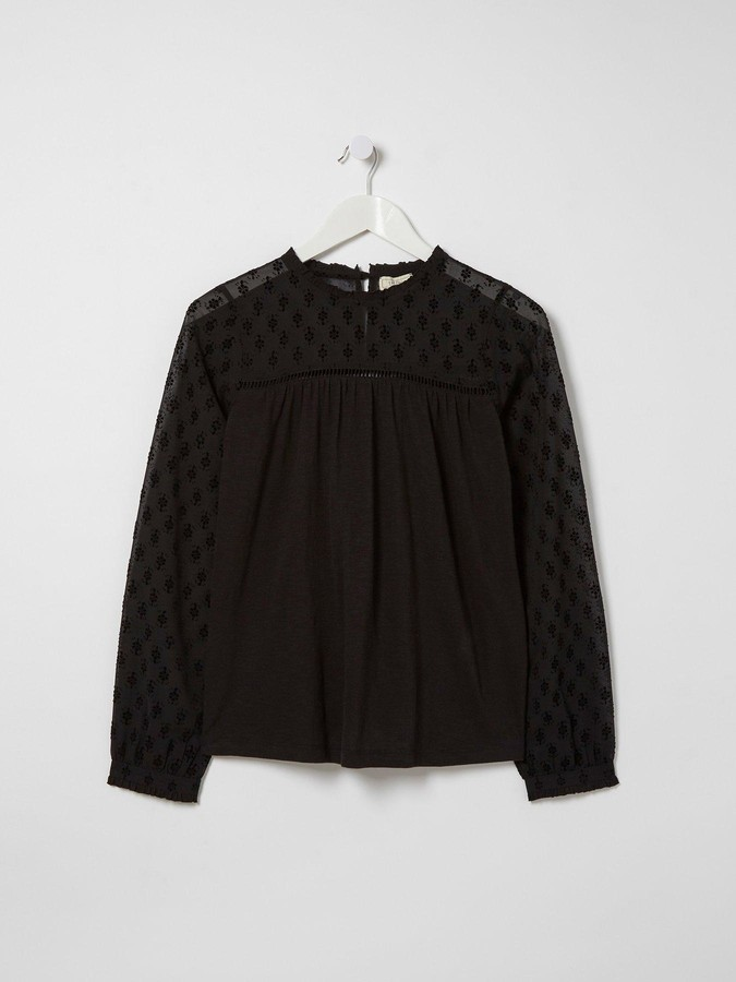 Thumbnail for your product : Fat Face Audrey Floral Top - Black