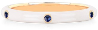 Ef Collection 14K Yellow Gold, Enamel & Blue Sapphire Ring