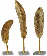 Decorative Feather Sculptures - Set of 3