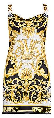 Versace Women's Rodeo Queen Sleeveless Printed Slip Dress