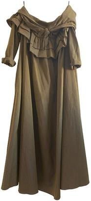Isa Arfen Khaki Cotton Dresses
