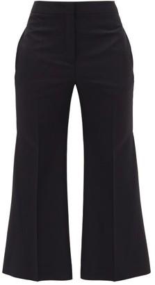 Jil Sander Flared-cuff Wool-blend Trousers - Navy
