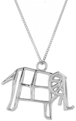 Origami Jewellery Frame Elephant Necklace Sterling Silver