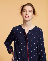 Joules Womens Arvia Printed Woven Tunic in Viscose in French Navy Spot