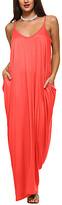 Isaac Liev Women's Casual Dresses Rust - Rust Pocket-Front Strapless Oversize Dress - Women