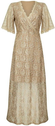 Yumi London Floral Lace Maxi Dress