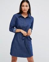 AX Paris Denim Shirt Dress With Tie Waist