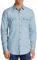 Sovereign Code Rolando Patterned Chambray Regular Fit Button-Down Shirt