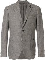 Lardini textured classic blazer