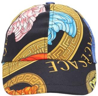 Versace Medusa Print Cotton Gabardine Hat