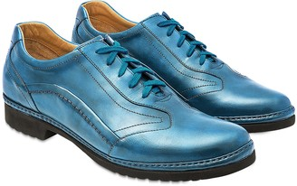 Pakerson Sky Blue Italian Handmade Leather Lace-up Shoes