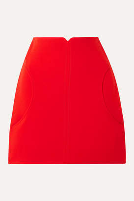 Courreges Wool-twill Mini Skirt - Red